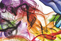 WB8201 cikkszámú tapéta.Absztrakt,különleges felületű,különleges motívumos,fehér,kék,lila,narancs-terrakotta,pink-rózsaszín,piros-bordó,zöld, bordűr