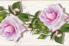 WB8229 cikkszámú tapéta.Fa hatású-fa mintás,különleges felületű,különleges motívumos,retro,virágmintás,lila,pink-rózsaszín,zöld, bordűr