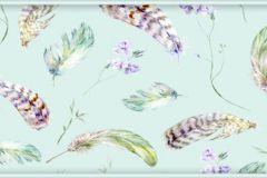 WB8231 cikkszámú tapéta.Különleges felületű,különleges motívumos,természeti mintás,kék,lila,pink-rózsaszín,zöld, bordűr