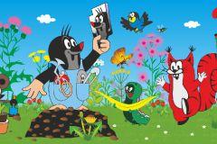 WBD8076 cikkszámú tapéta.állatok,gyerek,különleges felületű,különleges motívumos,barna,fehér,fekete,kék,narancs-terrakotta,pink-rózsaszín,piros-bordó,sárga,szürke, bordűr