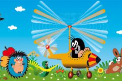 WBD8100 cikkszámú tapéta.állatok,gyerek,különleges felületű,különleges motívumos,barna,fekete,kék,narancs-terrakotta,piros-bordó,sárga,zöld, bordűr