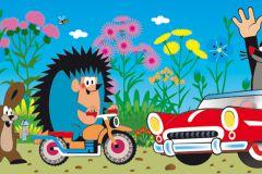 WBD8101 cikkszámú tapéta.állatok,gyerek,különleges felületű,különleges motívumos,virágmintás,fehér,fekete,kék,narancs-terrakotta,pink-rózsaszín,piros-bordó,szürke, bordűr