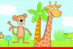 WBD8102 cikkszámú tapéta.állatok,gyerek,különleges felületű,különleges motívumos,barna,fehér,kék,zöld, bordűr