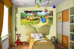 FTDN H 5316 cikkszámú tapéta.állatok,emberek-sztárok,gyerek,rajzolt,barna,bézs-drapp,fekete,kék,lila,narancs-terrakotta,pink-rózsaszín,piros-bordó,sárga,zöld,vlies poszter, fotótapéta