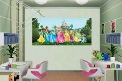 FTDN H 5325 cikkszámú tapéta.Emberek-sztárok,gyerek,rajzolt,kék,lila,pink-rózsaszín,sárga,zöld,vlies poszter, fotótapéta