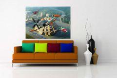 FTDN M 5225 cikkszámú tapéta.Gyerek,rajzolt,barna,fehér,fekete,kék,narancs-terrakotta,piros-bordó,szürke,zöld,vlies poszter, fotótapéta