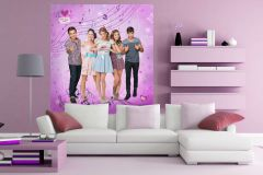 FTDN XL 5141 cikkszámú tapéta.Gyerek,barna,fekete,kék,pink-rózsaszín,szürke,vlies poszter, fotótapéta