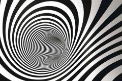 FTN H 2707 cikkszámú tapéta.3d hatású,geometriai mintás,különleges motívumos,fehér,fekete,vlies poszter, fotótapéta