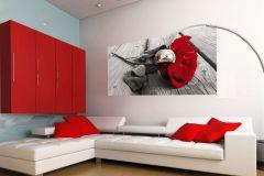 FTN H 2717 cikkszámú tapéta.Virágmintás,piros-bordó,szürke,vlies poszter, fotótapéta