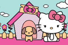 FTN H 2737 cikkszámú tapéta.Gyerek,barna,fehér,pink-rózsaszín,zöld,vlies poszter, fotótapéta