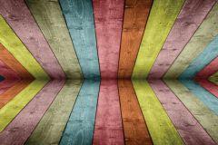 FTN H 2745 cikkszámú tapéta.Fa hatású-fa mintás,barna,kék,lila,sárga,zöld,vlies poszter, fotótapéta