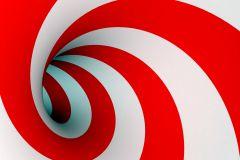 FTN M 2607 cikkszámú tapéta.3d hatású,absztrakt,geometriai mintás,fehér,piros-bordó,vlies poszter, fotótapéta