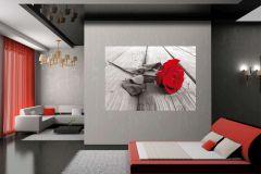 FTN M 2619 cikkszámú tapéta.Virágmintás,piros-bordó,szürke,vlies poszter, fotótapéta