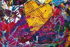 FTN M 2635 cikkszámú tapéta.Gyerek,különleges motívumos,kék,pink-rózsaszín,piros-bordó,sárga,zöld,vlies poszter, fotótapéta