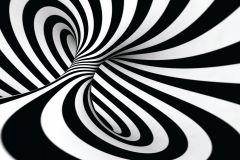 FTN M 2649 cikkszámú tapéta.3d hatású,absztrakt,geometriai mintás,fehér,fekete,vlies poszter, fotótapéta