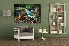 FTN M 2652 cikkszámú tapéta.állatok,tájkép,barna,fehér,fekete,kék,szürke,zöld,vlies poszter, fotótapéta