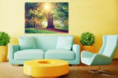 FTN M 2657 cikkszámú tapéta.Fa hatású-fa mintás,tájkép,természeti mintás,arany,barna,sárga,zöld,vlies poszter, fotótapéta