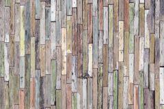 FTN M 2663 cikkszámú tapéta.Fa hatású-fa mintás,barna,kék,pink-rózsaszín,piros-bordó,sárga,zöld,vlies poszter, fotótapéta