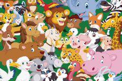 FTN M 2669 cikkszámú tapéta.állatok,gyerek,fehér,fekete,kék,lila,narancs-terrakotta,pink-rózsaszín,piros-bordó,sárga,szürke,zöld,vlies poszter, fotótapéta