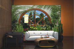FTN S 2457 cikkszámú tapéta.Különleges motívumos,természeti mintás,barna,bézs-drapp,piros-bordó,zöld,vlies poszter, fotótapéta