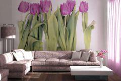 FTN S 2463 cikkszámú tapéta.Virágmintás,pink-rózsaszín,zöld,vlies poszter, fotótapéta