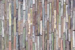 FTN S 2478 cikkszámú tapéta.Fa hatású-fa mintás,kék,narancs-terrakotta,pink-rózsaszín,piros-bordó,sárga,zöld,vlies poszter, fotótapéta