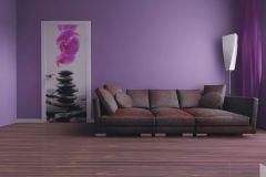 FTN V 2857 cikkszámú tapéta.Kőhatású-kőmintás,virágmintás,fehér,fekete,pink-rózsaszín,szürke,vlies poszter, fotótapéta