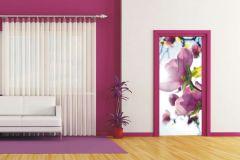 FTN V 2873 cikkszámú tapéta.Virágmintás,fehér,pink-rózsaszín,zöld,vlies poszter, fotótapéta