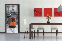 FTN V 2882 cikkszámú tapéta.Feliratos-számos,tájkép,fehér,fekete,narancs-terrakotta,szürke,vlies poszter, fotótapéta