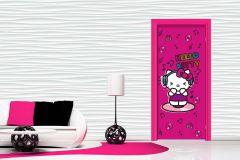 FTN V 2916 cikkszámú tapéta.Gyerek,rajzolt,fehér,fekete,lila,pink-rózsaszín,piros-bordó,sárga,vlies poszter, fotótapéta
