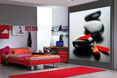 FTN XL 2504 cikkszámú tapéta.Kőhatású-kőmintás,természeti mintás,fekete,piros-bordó,sárga,szürke,vlies poszter, fotótapéta