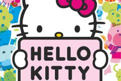 FTN XL 2541 cikkszámú tapéta.Gyerek,rajzolt,fehér,fekete,kék,pink-rózsaszín,szürke,zöld,vlies poszter, fotótapéta