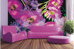 FTN XXL 0389 cikkszámú tapéta.Virágmintás,lila,pink-rózsaszín,zöld,vlies poszter, fotótapéta
