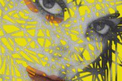 FTN XXL 0394 cikkszámú tapéta.Különleges motívumos,sárga,szürke,vlies poszter, fotótapéta