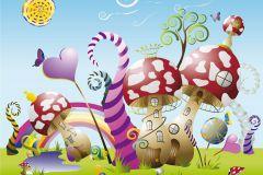 FTN XXL 0410 cikkszámú tapéta.állatok,gyerek,rajzolt,bézs-drapp,kék,lila,pink-rózsaszín,piros-bordó,sárga,zöld,vlies poszter, fotótapéta