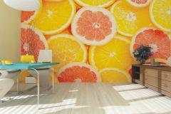 FTN XXL 0413 cikkszámú tapéta.Konyha-fürdőszobai,különleges motívumos,narancs-terrakotta,sárga,vlies poszter, fotótapéta