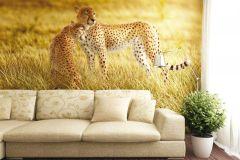 FTN XXL 0420 cikkszámú tapéta.állatok,fekete,sárga,zöld,vlies poszter, fotótapéta