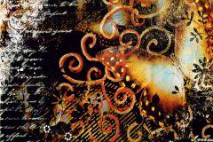 FTN XXL 0434 cikkszámú tapéta.állatok,feliratos-számos,különleges motívumos,fehér,fekete,narancs-terrakotta,sárga,vlies poszter, fotótapéta