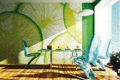 FTN XXL 0440 cikkszámú tapéta.Konyha-fürdőszobai,különleges motívumos,zöld,vlies poszter, fotótapéta