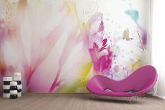 FTN XXL 0443 cikkszámú tapéta.Virágmintás,fehér,kék,pink-rózsaszín,zöld,vlies poszter, fotótapéta