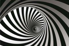 FTN XXL 0452 cikkszámú tapéta.3d hatású,absztrakt,geometriai mintás,fehér,fekete,vlies poszter, fotótapéta