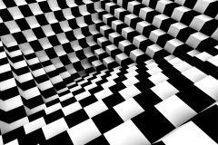 FTN XXL 1146 cikkszámú tapéta.3d hatású,absztrakt,geometriai mintás,fehér,fekete,szürke,vlies poszter, fotótapéta