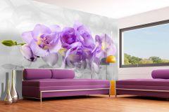 FTN XXL 2400 cikkszámú tapéta.Virágmintás,fehér,lila,sárga,szürke,vlies poszter, fotótapéta
