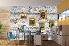 FTN XXL 2407 cikkszámú tapéta.Kőhatású-kőmintás,különleges motívumos,tájkép,arany,fehér,sárga,szürke,vlies poszter, fotótapéta