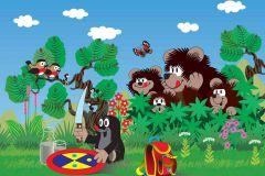 FTN XXL 2423 cikkszámú tapéta.állatok,gyerek,rajzolt,barna,fehér,fekete,kék,piros-bordó,sárga,szürke,zöld,vlies poszter, fotótapéta
