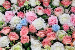 FTN XXL 2428 cikkszámú tapéta.Virágmintás,fehér,kék,pink-rózsaszín,sárga,zöld,vlies poszter, fotótapéta