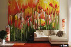 FTS 0045 cikkszámú tapéta.3d hatású,természeti mintás,virágmintás,pink-rózsaszín,piros-bordó,sárga,zöld,papír poszter, fotótapéta