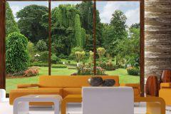 FTS 1314 cikkszámú tapéta.3d hatású,tájkép,természeti mintás,barna,kék,narancs-terrakotta,zöld,papír poszter, fotótapéta
