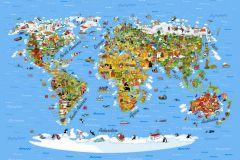 FTS 1320 cikkszámú tapéta.állatok,gyerek,különleges motívumos,rajzolt,barna,bézs-drapp,fehér,fekete,kék,lila,narancs-terrakotta,pink-rózsaszín,piros-bordó,sárga,szürke,zöld,papír poszter, fotótapéta