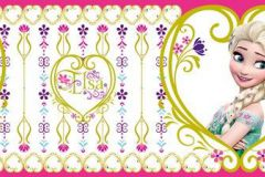 WBD8063 cikkszámú tapéta.Gyerek,fehér,lila,pink-rózsaszín,zöld,anyagában öntapadós bordűr